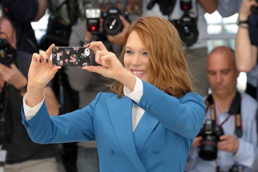 Un an après La Vie d'Adèle, Léa Seydoux immortalise son retour à Cannes...