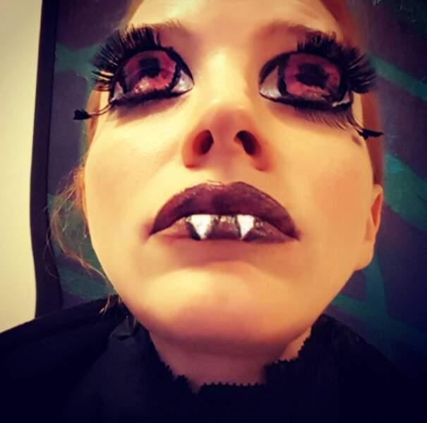 Pour Halloween, Jessica fait dans l'originalité...