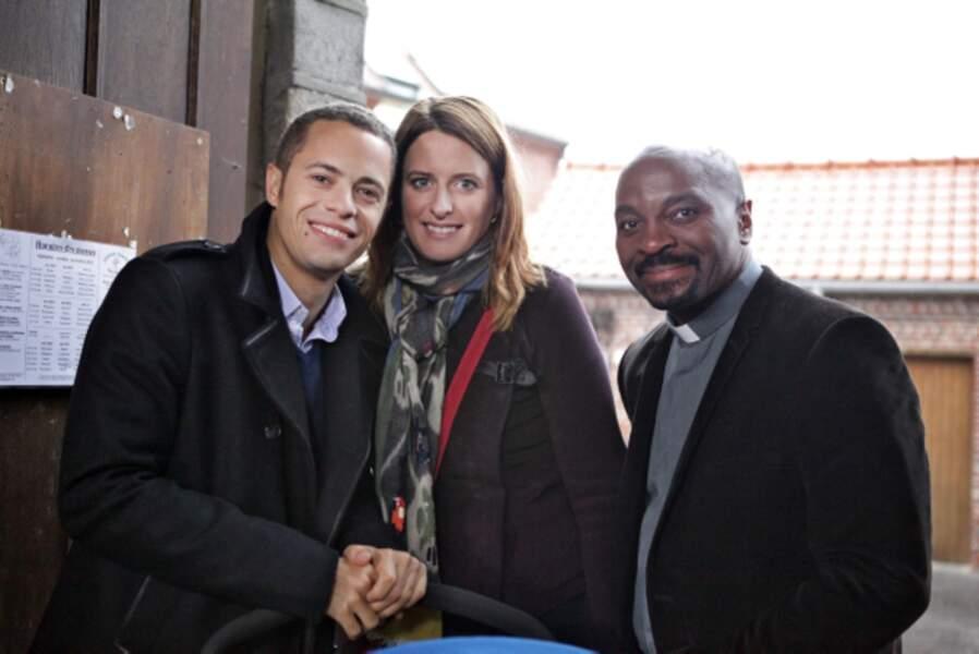 Rudy, entouré de ses deux parents, Luna et Damien