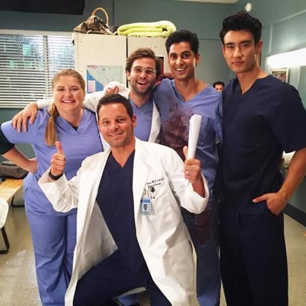 Autre ambiance sur le plateau de Grey's Anatomy !