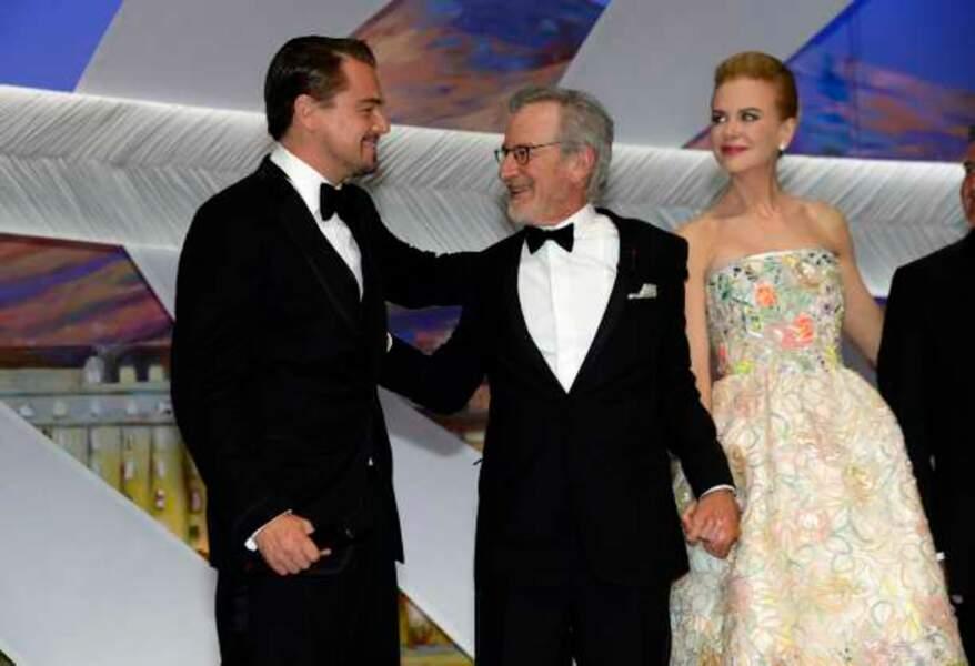 Leonardo DiCaprio, Steven Spielberg et Nicole Kidman
