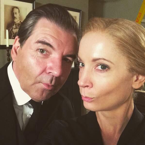 Brendan Coyle et celle qui a incarné sa femme à l'écran, Joanne Froggatt
