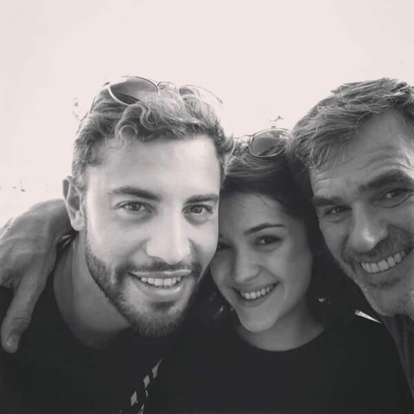 Plus belle la vie enfin avec un joli selfie de Marwan Berreni, Myra Tyliann et Jérome Bertin