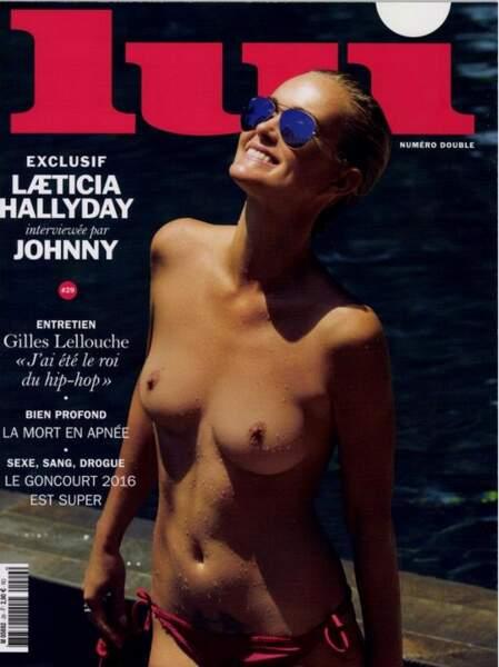 Laeticia Hallyday topless elle aussi en Une du mensuel LUI