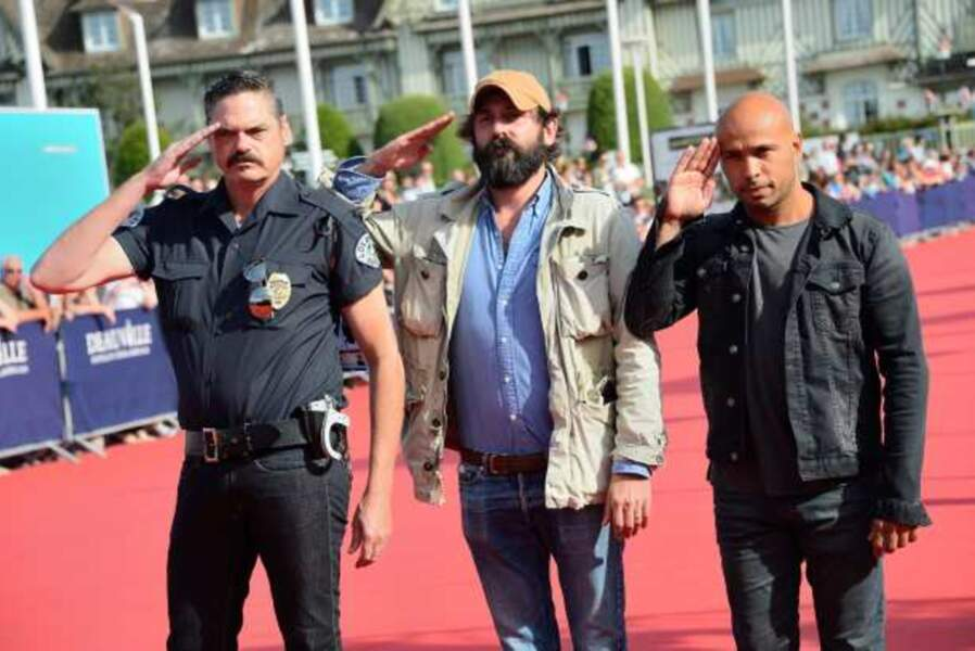 Mark Burnham, Quentin Dupieux et Eric Judor, l'équipe de Wrong Cops