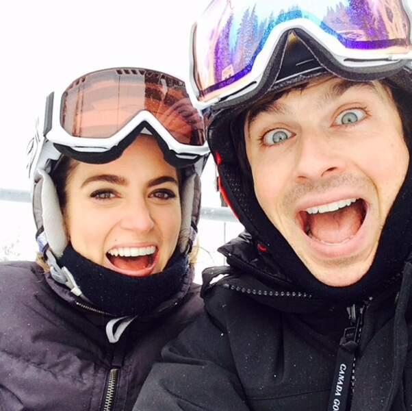 Nikki Reed et Ian Somerhalder s'éclatent au ski !