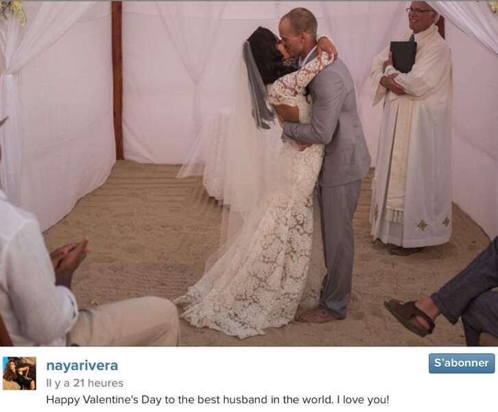 Séquence souvenirs pour Naya Rivera. L'actrice de Glee a dévoilé une photo de son mariage avec Ryan Dorsey