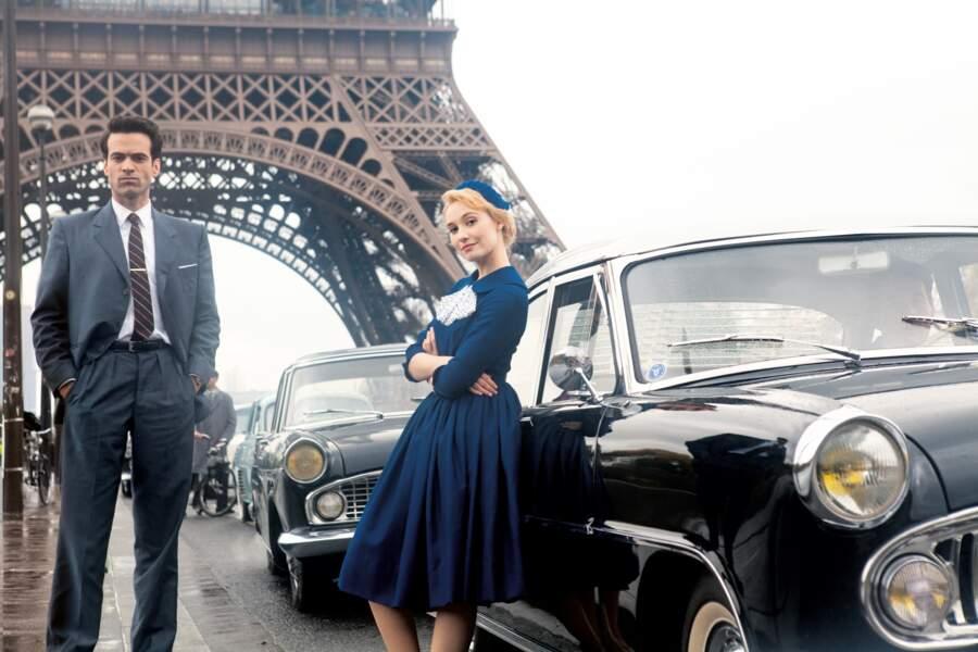 """Succès """"Populaire"""" de l'année : ah le charme rétro parisien, très chic avec son partenaire Romain Duris !"""