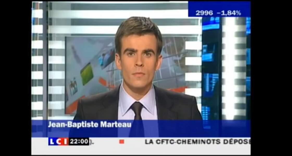 Après Equidia et L'Equive TV, Jean-Baptiste Marteau a présenté les journaux du soir et la matinale de LCI.