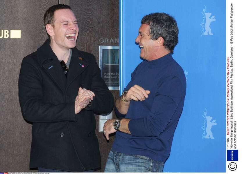 Il n'est pas le dernier pour faire le fanfaron (avec Antonio Banderas) lors de la promo du film à Berlin