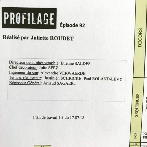 Un épisode de Profilage pas comme les autres pour Juliette Roudet, qui passe derrière la caméra