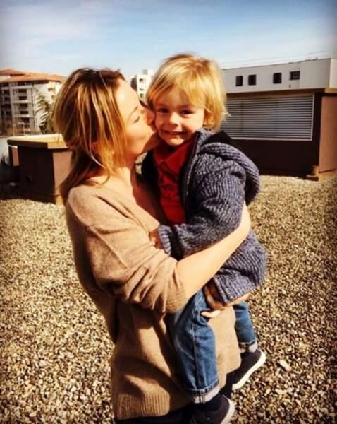 Dans la série, Maud Baecker (alias Anna dans DNA) sera maman d'un petit garçon que voici !