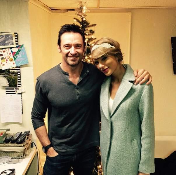 Hugh Jackman et Taylor Swift, réunis pour Noël