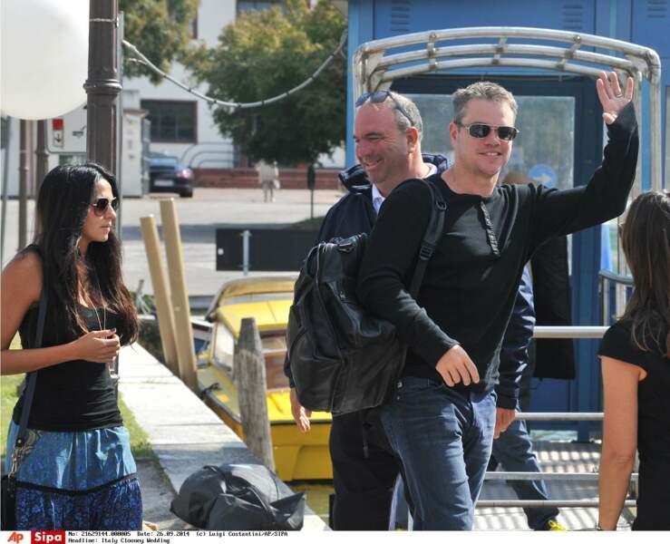 Le grand pote de George, Matt Damon, est bien sûr invité…