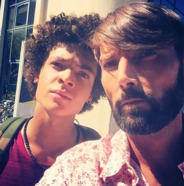 Selfie père et fils
