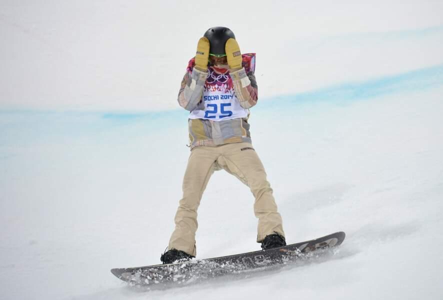 Le favori Shaun White (snowboard halfpipe) échoue à la 4ème place...
