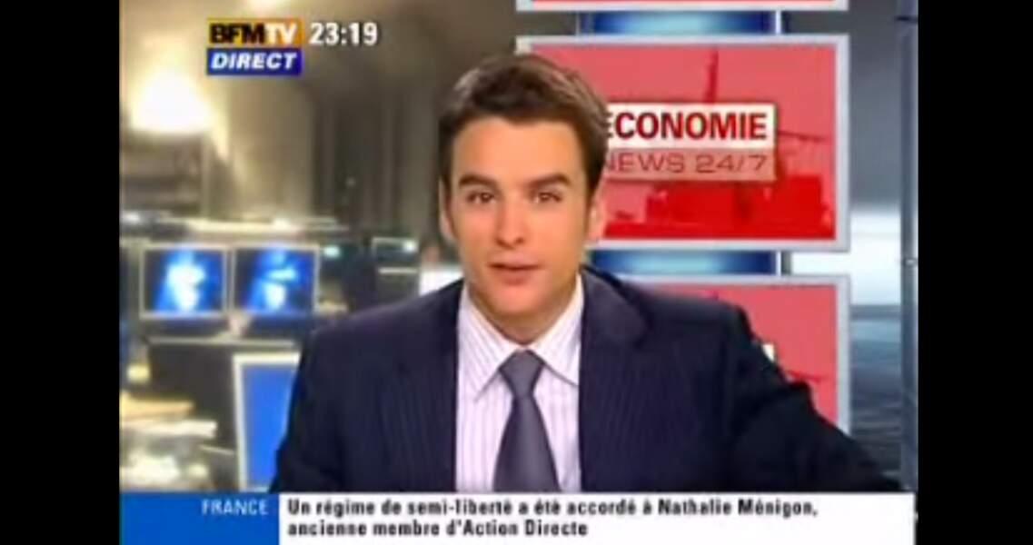 Julian Bugier a participé au lancement de BFM TV en présentant les JT de l'économie.
