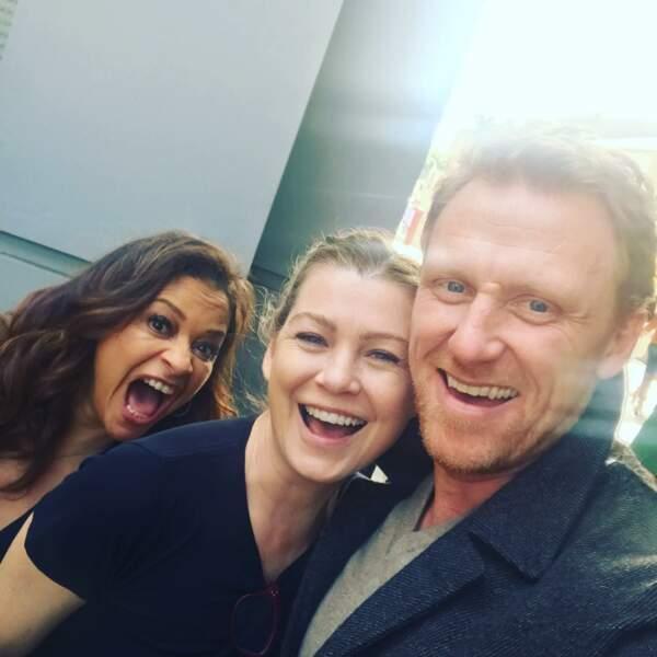 L'ambiance reste au beau fixe sur le tournage de Grey's Anatomy, malgré le choc du départ d'April et Arizona