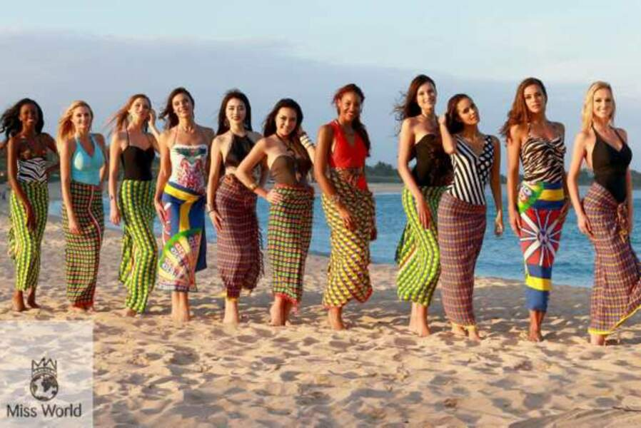 Les onze finalistes de Miss Beach Fashion