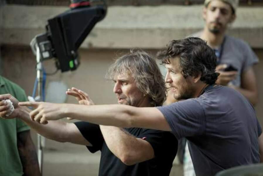 Guillaume Canet et James Gray, avec qui il a coécrit le scénario de Blood Ties
