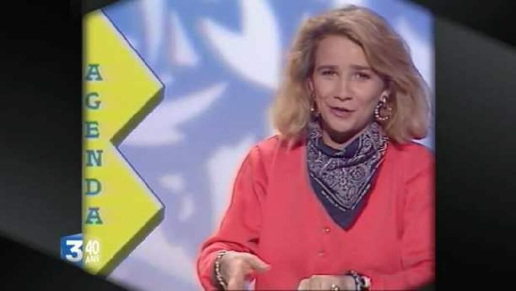 Ariane Massenet, sur France 3 Aquitaine en 1988