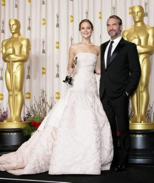 Jennifer Lawrence et Jean Dujardin