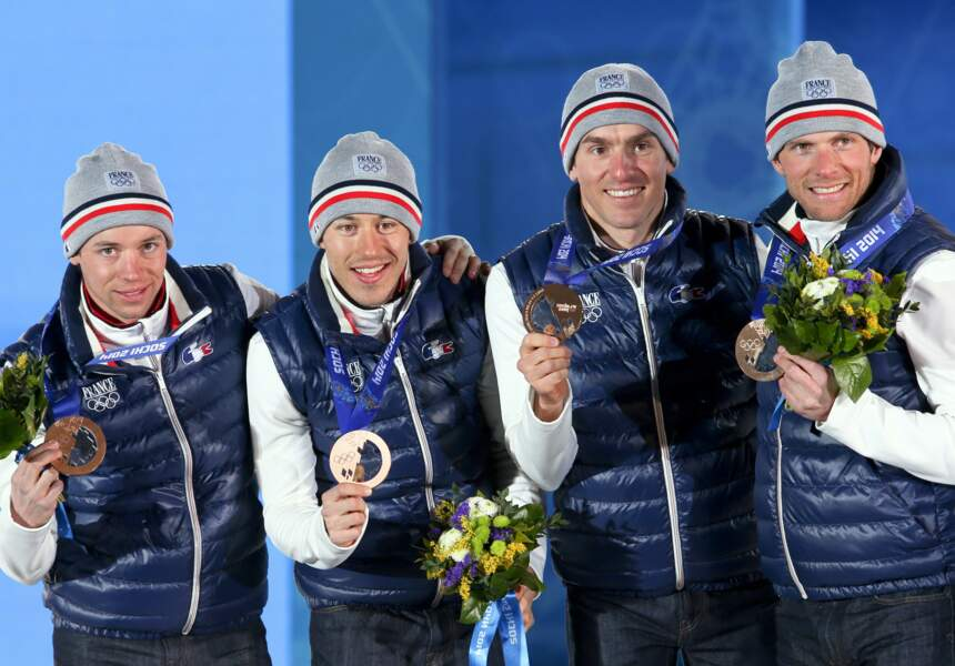 Les Français Jean-Marc Gaillard / Maurice Manificat, Robin Duvillard et Ivan Perrillat Boiteux médaillés
