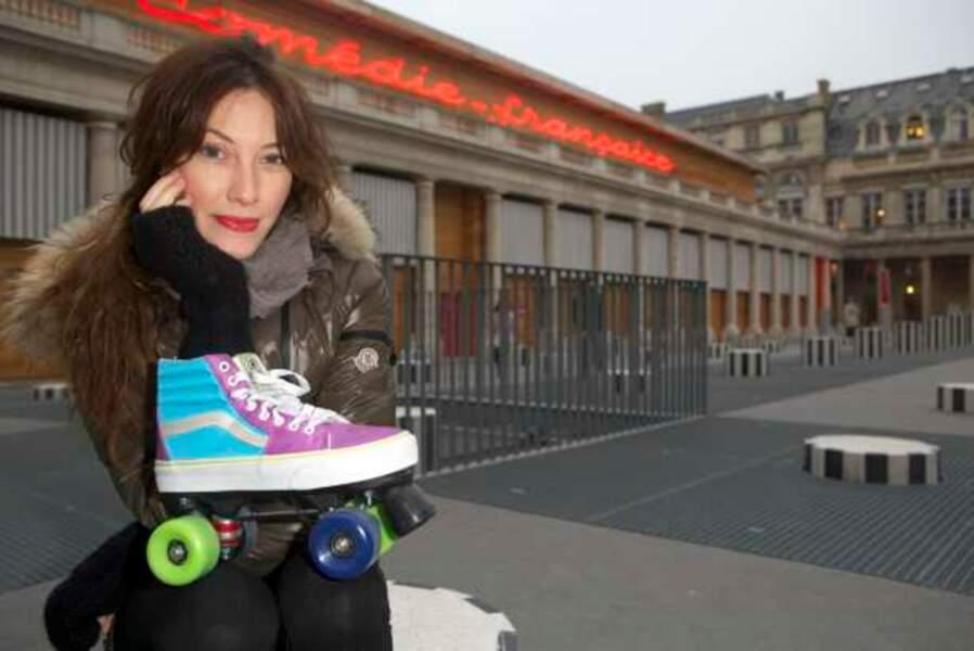 Mareva Galanter et ses patins à roulette