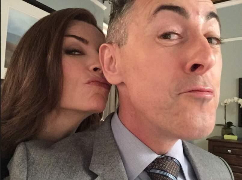 Julianna Margulies et Alan Cumming, inséparables sur le tournage de The Good Wife