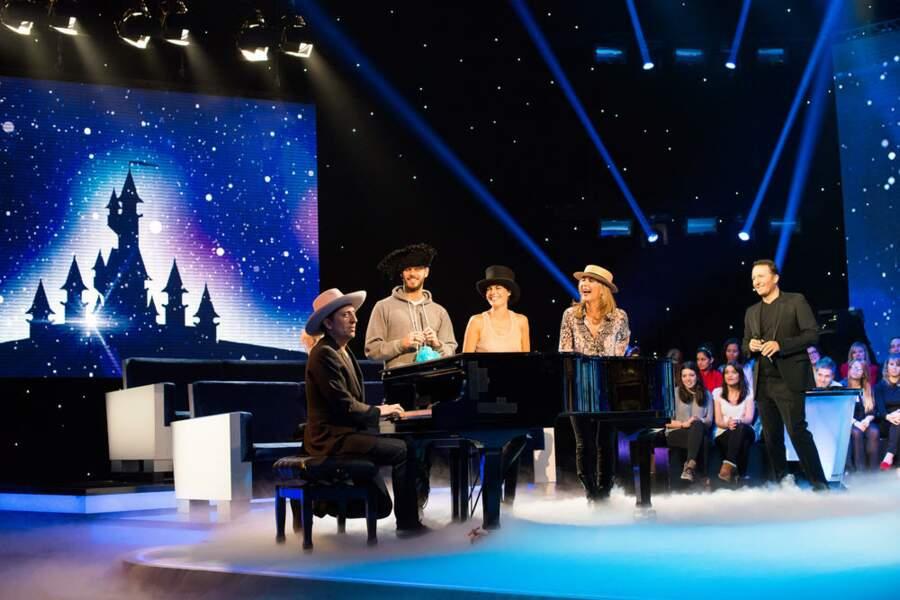 Gad Elmaleh au piano...