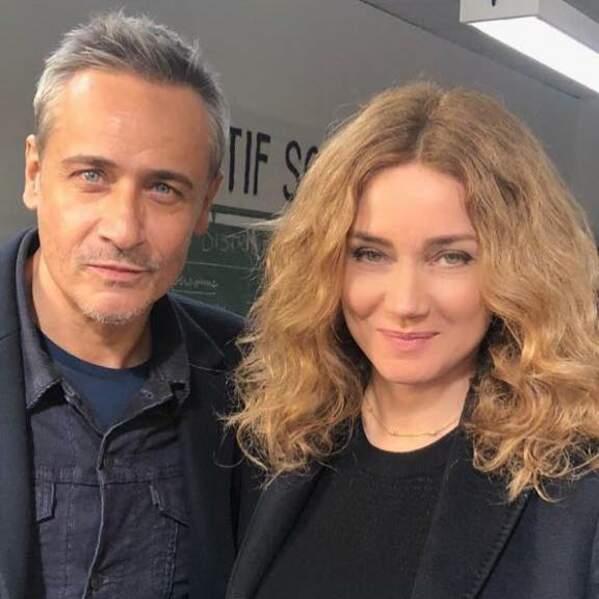 Jean-Michel Tinivelli et Marine Delterme, toujours ravis de se retrouver pour le tournage d'Alice Nevers