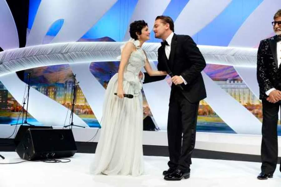 Audrey Tautou et Leonardo DiCaprio