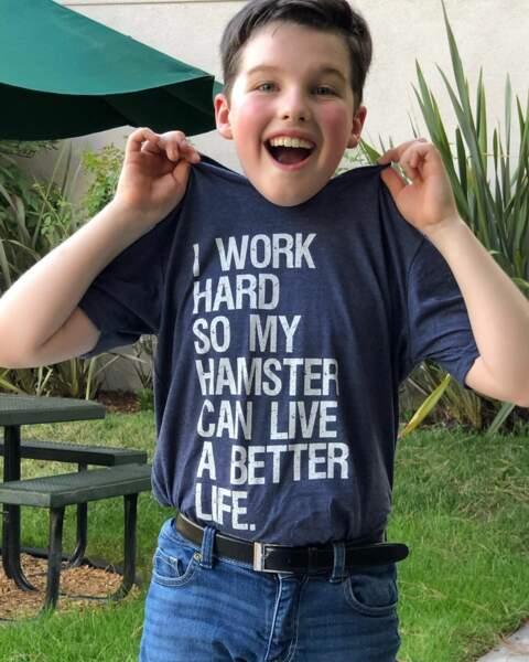 Ian Armitage, la star de Young Sheldon, sait pourquoi il travaille dur !
