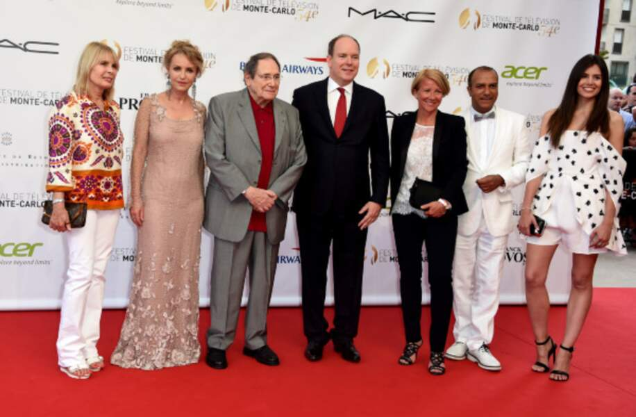 Prince Albert de Monaco avec Robert Hossein, Candice Patou et Pascal Legitimus