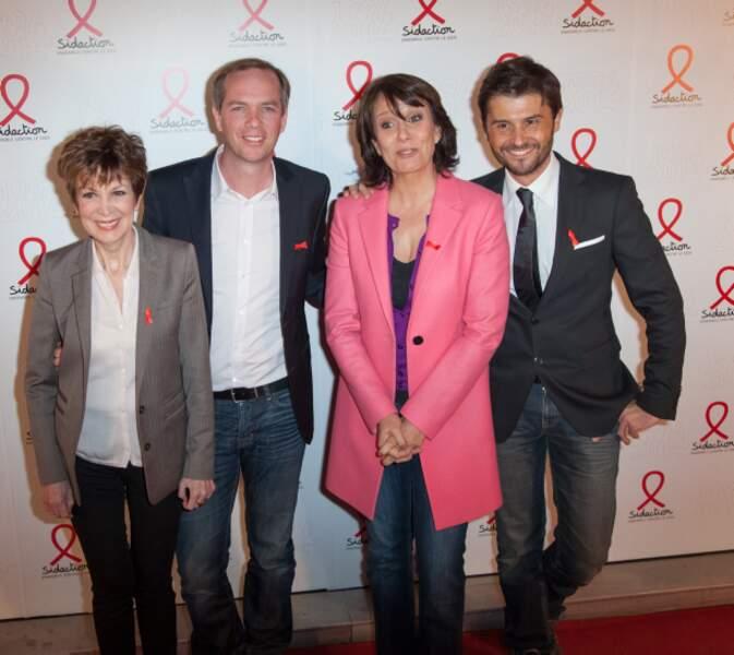 La team TF1 : Catherine Laborde, Julien Arnaud, Carole Rousseau et Christophe Beaugrand