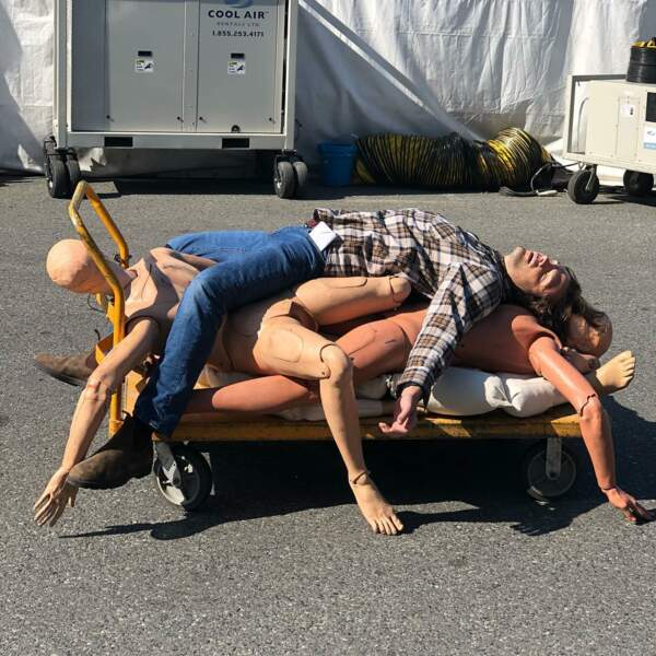 Voilà dans quel état termine Jared Padalecki, à la fin d'une journée de tournage de Supernatural