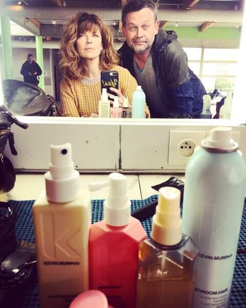 Sur le tournage de Cassandre, Gwendoline Hamon est très sérieuse quand il s'agit de coiffure