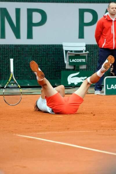 Rafael Nadal a explosé de joie et lâché sa raquette