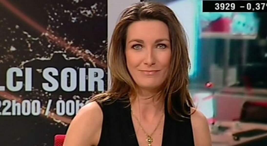 Anne-Claire Coudray a fait ses premières armes de présentatrice sur LCI.
