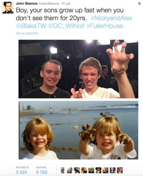 Ils ont grandi les jumeaux de l'oncle Jesse !