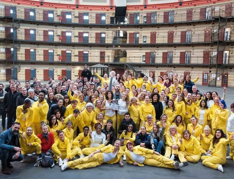 Elodie Fontan annonce la fin du tournage de Piégée, la série de M6, et remercie cette grande équipe