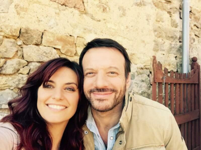 Laetitia Milot et Samuel Le Bihan, sur le tournage de La Femme aux cheveux rouges pour France 3.