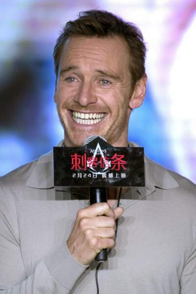 Michael Fassbender fait le show lors de la présentation du film en Chine à Pekin