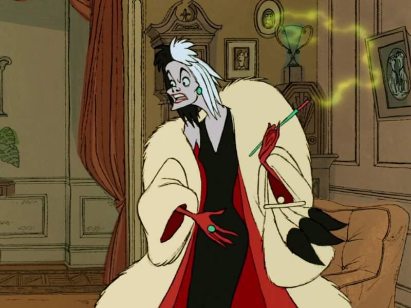 En voilà une qui porte bien son nom : Cruella dans Les 101 dalmatiens