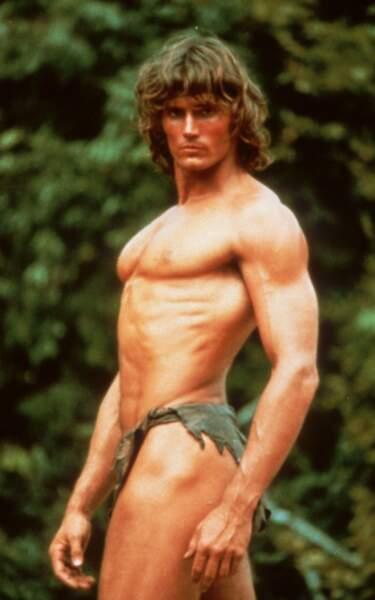 En 1981, Tarzan gagne en muscles avec Miles O'Keeffe dans Tarzan, l'homme-singe