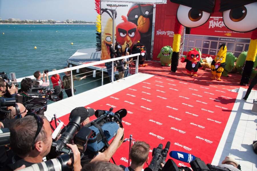 Hier, pour la sortie du dessin-animé Angry Birds, les oiseaux ont fait le show sur la Croisette !