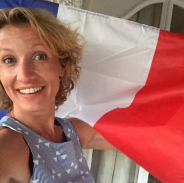 L'actrice a supporté les bleus durant l'Euro 2016 !