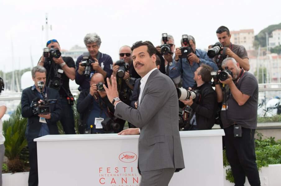 Laurent Lafitte, le maître de cérémonie du Festival a aussi eu le droit à sa séance photo