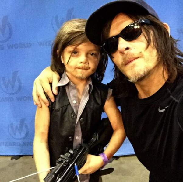 Son personnage de Daryl est ultra populaire, même auprès des petits
