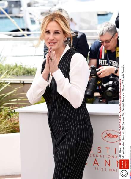 Ça y est ! Pour la première fois de sa carrière l'actrice Julia Roberts est à Cannes !